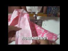甚平ゆかたのえりの作り方2 How to make the colloar of the jinbei (kimono)2(HD) - YouTube