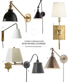 Obsessed With / Plug-in Wall Sconces — Lindsay Stephenson
