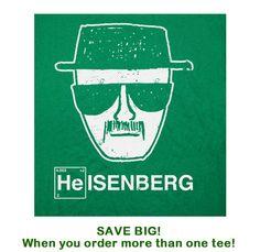 Heisenberg T Shirt Breaking Bad Funny T Shirt TV Movie Moustache T Shirt on Etsy, $12.00