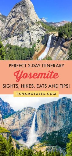 Things to do in National Park - Wanting to visit Yosemite? It is your lucky day since my itinerary covers sights (Half Dome, El Capitan, Yosemite Falls, Bridalveil Fall, Sequoia… Usa Travel Guide, Travel Usa, Travel Guides, Van Travel, Road Trip Usa, New York Tourist, Sequoia, Yosemite Falls, Mist Trail Yosemite