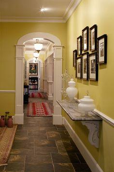 Amanda Webster Design: Traditional Eclectic Hallway Interior Design / Photo: Neil Rashba