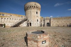 Interior court of the Acquaviva Picena's  fortress - marche region - Italy