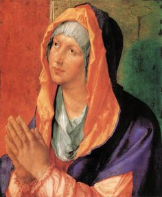 Daily artworks: Albrecht Dürer (1471 - 1528) Mary Praying (1518)