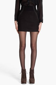 THEORY, GRETCHYN WOOL SKIRT: wraparound zippers are the stuff of my dreams. $129
