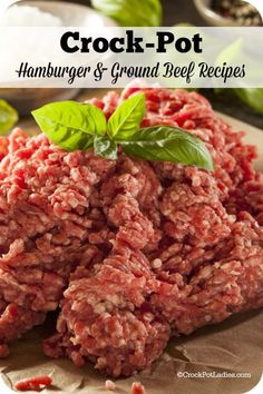 Crock-Pot Hamburger and Ground Beef Recipes - A list of amazing slow cooker recipes using ground beef. From meatloaves, casseroles, burritos and more! | CrockPotLadies.com