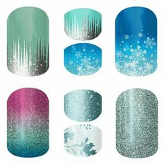 Frozen Nails! To order go to www.alexawebb.jamberrynails.net  Arent they so cute?!