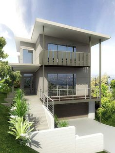 House architectural rendering