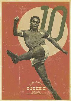 Retro Soccer Player Posters #Eusebio