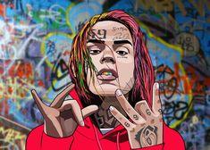 Rapper Art, Cartoon Pics, Cartoon Drawings, Art Drawings, Dope Cartoons, Supreme Wallpaper, Sketch Inspiration, Iphone Wallpaper, Rap Wallpaper