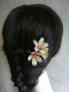 The cherry blossom hair sticks/ hair pin/ by Numerousflowerfall