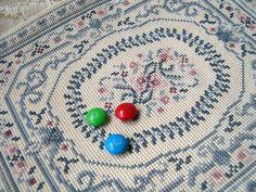 My cross-stitched dollhouse oriental rug