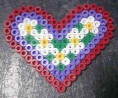 Valentine hama perler flower heart by Hamamia on deviantART