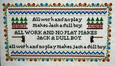 This is basically the most amazing cross stitch sampler I have *ever* seen. MUST MAKE.