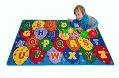 nice Kids Rugs Learning Recreational Playtime Classroom Rug