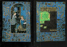 The Morgan Library & Museum Online Exhibitions - The Black Hours - Annunciation, Hours of the Virgin: Matins