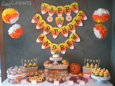 Candy Corn Deluxe Printable Party Package - Dimple Prints Shop