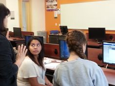 Mentorship is key to success @ the 2014 International Women's Hackathon, sponsored by Microsoft Research - Cal State San Marcos location