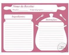 Resultado de imagem para folha caderno de receitas