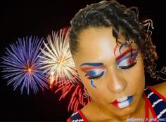 4th of July makeup looked Used James Charles Morphe Palette  IG @its_jo95 4th Of July Makeup, Morphe Palette, Kids Makeup, Simple Makeup, Makeup Looks, Halloween Face Makeup, Eyeshadow, Childrens Makeup, Make Up Looks