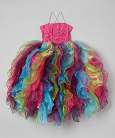 Loving this Rainbow Cascade Ruffle Dress - Toddler & Girls on #zulily! #zulilyfinds