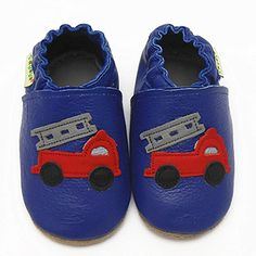 Sayoyo Baby Cute Truck Soft Soled Leather Baby Shoes Baby Moccasins (6-12 months£¬Blue) Sayoyo