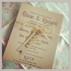 1 Vintage/Shabby Chic Style wedding invitation stationery sample   eBay by ennairam