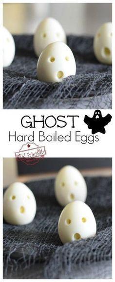 ghost hardboiled eggs for a healthy halloween kid s breakfast treat