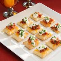 Bacon and Cheddar Puff Pastry CrispsRecipe from Pepperidge Farm Puff Pastry
