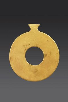 Neolithic Gold Ring Idol |  3500 BC | Price $0.00 | Anatolian, Neolithic | Gold | Jewelry | eTiquities by Phoenix Ancient Art