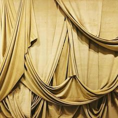 Curtain call. Xk Drapery Drawing, Pattern Draping, Fabric Photography, Curtain Call, Kelly Wearstler, Curtain Designs, Draped Fabric, Muted Colors, Drapes Curtains