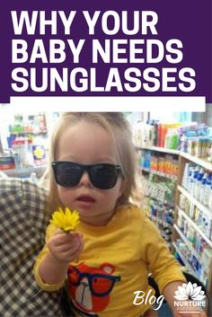 We think about protecting our skin from that harsh sun. But do we think about the eyes of our babies in the same way? How many babies do you see wearing sunglasses? Here's why it's important and what to look for when buying sunnies for baby and toddler. Click to read more in my blog.