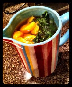 Dr. Oz's metabolism boosting tangerine mint green tea ... this blog has so many great healthy recipes!!!