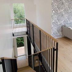 Stair Railing, Stairs, Loft, Home Decor Styles, How To Plan, Stair Case, Design, Houses, Paint