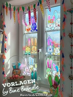 Craft template for naughty rabbit faces. Ideal for crafting with children as decoration for the Easter basket, the windows or just the whole Wohnu … - New Deko Sites Easter Art, Easter Crafts, Easter Bunny, Hobbies And Crafts, Diy And Crafts, Crafts For Kids, Preschool Decor, Window Mural, Decoration Gris