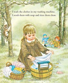 Little Mommy (Little Golden Book) Vintage Children's Books, Vintage Art, Kids Poems, Little Golden Books, Children's Book Illustration, Childhood Memories, Childrens Books, Illustrators, Sharon Kane