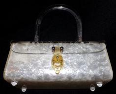 VIntage Lucite . Vintage 1950s Handbag . by RecyclingTheBlues, $120.00