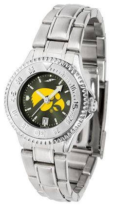 NCAA Iowa Hawkeyes Ladies' Competitor Steel AnoChrome Watch