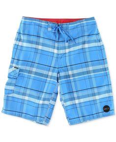 O'Neill Santa Cruz Plaid Board Shorts - Swimwear - Men - Macy's