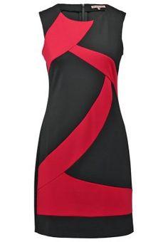 Vestido de algodón - red/black
