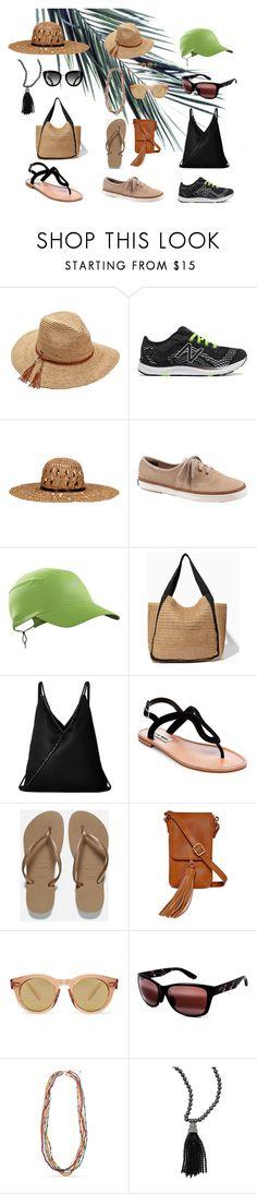 """Summer accessories"" by angelica-americo on Polyvore featuring Scala, New Balance, KOCCA, Keds, Arc'teryx, MM6 Maison Margiela, Steve Madden, Havaianas, Arizona and Maui Jim"
