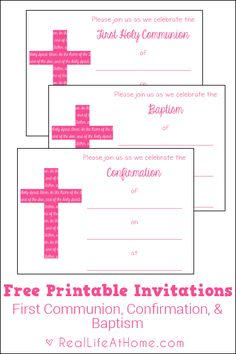 Free printable religious invitation templates please for Free printable confirmation invitations template