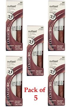 CoverGirl Outlast All Day Two Step Lipcolor, 545 Naturalast (Pack of 5) -- You can find more details by visiting the image link.