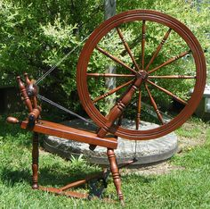 So cool - Presumed Vezina Canadian spinning wheel by PeaceEagleValley