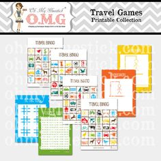 Printable Travel Games Collection by Oh My by ohmygluestick, $2.00