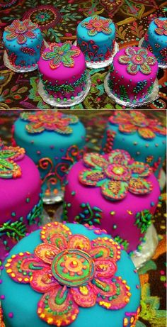 colorful henna cakes - no tutorial, but gorgeous picture for inspiration