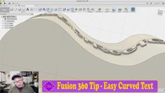 Fusion 360 Tip - Creating Text on Curved Objects Useful 3d Prints, Fusion 360, Diy Cnc, 3d Printing, Objects, Cad Cam, Wood Working, Tips, Printer