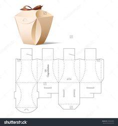 Retail Box With Blueprint Template Illustration vectorielle libre de droits 400665805 : Shutterstock