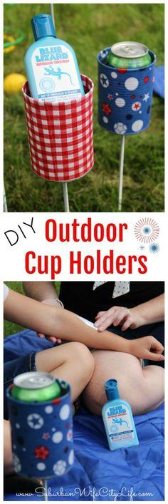 Outdoor Cup Holders DIY #BlueLizardSummer #ad @bluelizardsun @Walmart