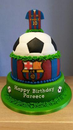 FC Barcelona taart Pastel Del Barcelona, Barcelona Cake, Barcelona Party, Elvis Birthday, 10 Birthday Cake, Soccer Birthday Parties, Football Birthday, Soccer Cake, Twins Cake