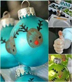 Fingerabdruck christbaumkugel